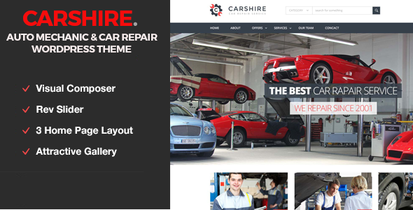 Auto Mechanic Responsive Business Template