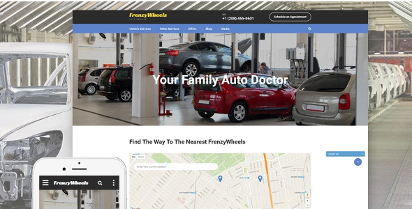 Auto Parts Frenzy Wheels Website Template
