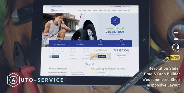 Auto Repair Car WordPress Template