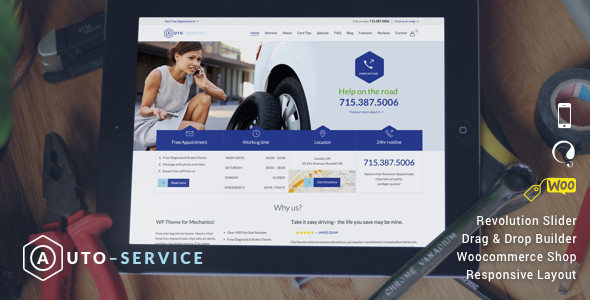 Auto Repair Mechanic Shop Responsive Theme