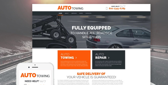 AutoTowing WordPress Theme