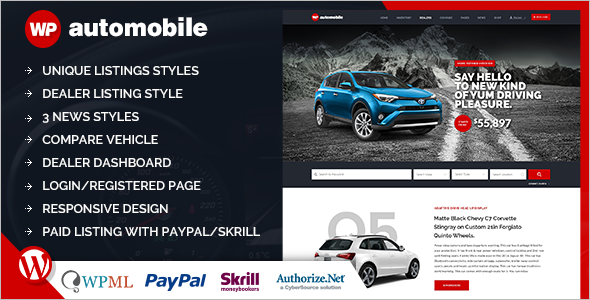 Automobile WordPress Template
