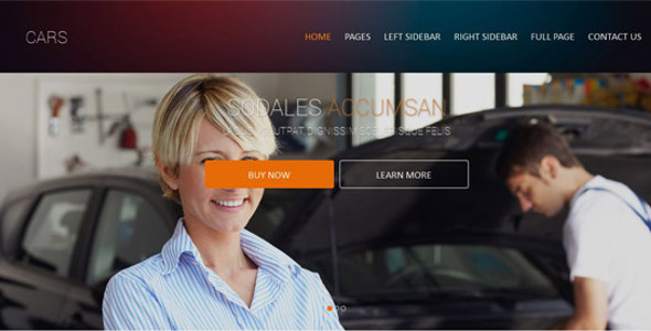Automobiles Web Template