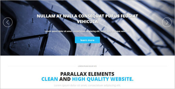 Automobiles Website Template Compatible with Desktop