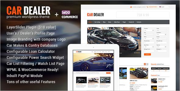 Automotive Car Dealer WordPress Theme