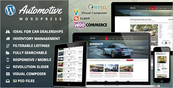 Automotive Car Dealership WordPress Template