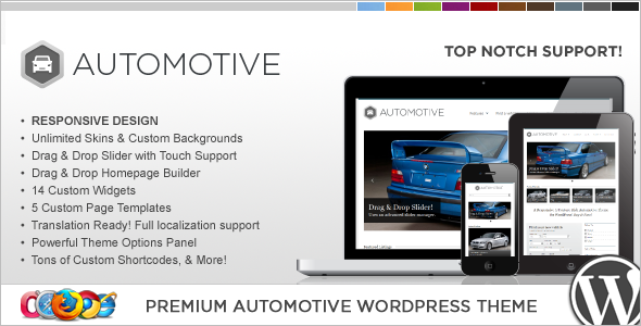 Automotive Classified WordPress Template