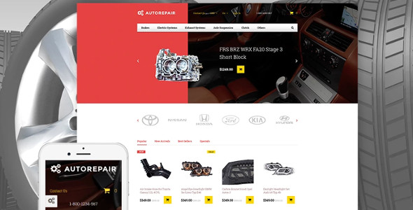 Autorepair PrestaShop Theme & Template
