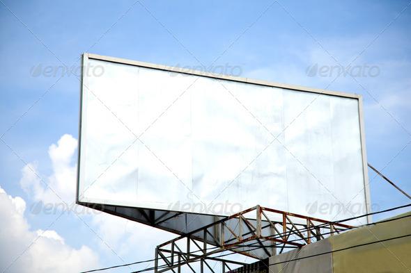 Banner in white background