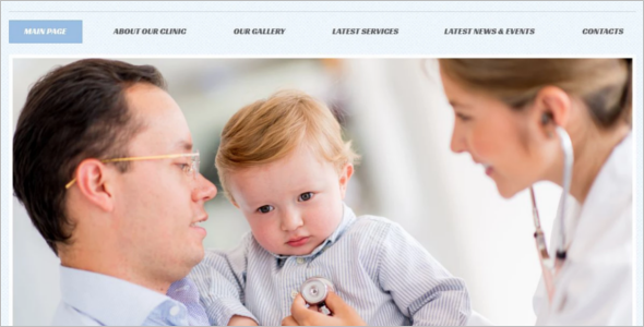 Basic Medical clinic WordPress Template