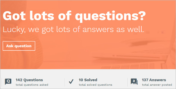 Basic Question & Answer WordPress Theme