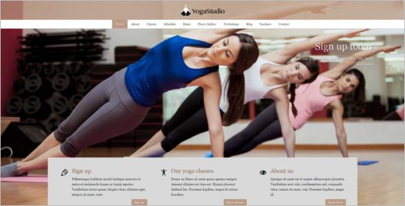 Basic Yoga Classes Website Template