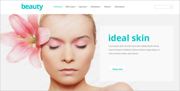 Beauty mackup Website Template