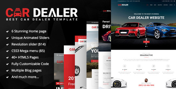 Best Car Dealer Website Templates