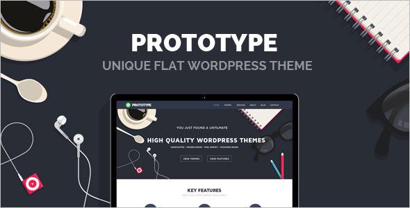 Best Flat Design WordPress Template