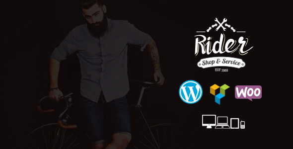 Bike Shop Service WordPress Template