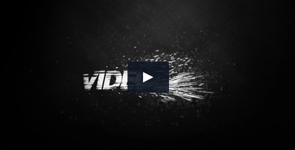 Black And White Dusty and Grungy Logo Video Template