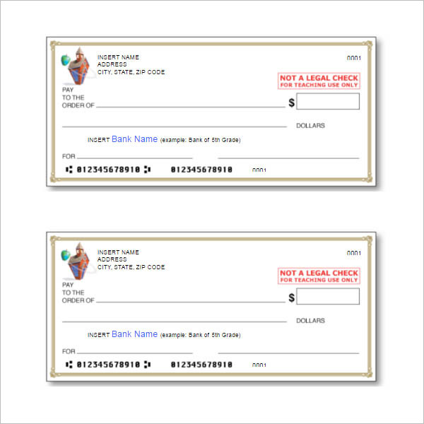 Blank Bank Cheque pdf