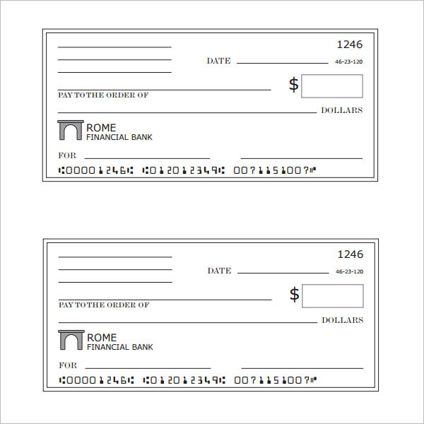 Blank Check Template Download