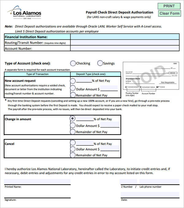 Blank Payroll Check Template pdf