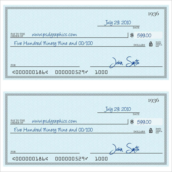 Cheque Templates – Free Word, Psd, Pdf Format Download | Creative