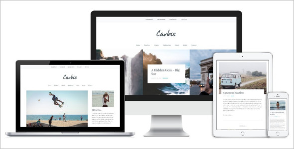Bold Typography WordPress Template