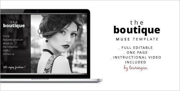 Boutique One Page Website Template