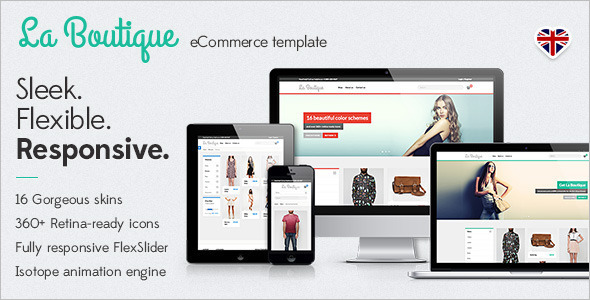 Boutique Shopping Website Template