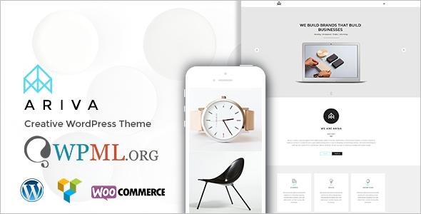 Brand One Page WordPress Template