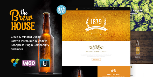Brewery Pub WordPress Template