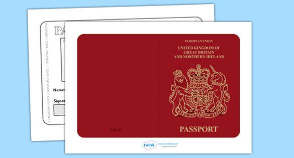 British Passport Template Free Printable Download