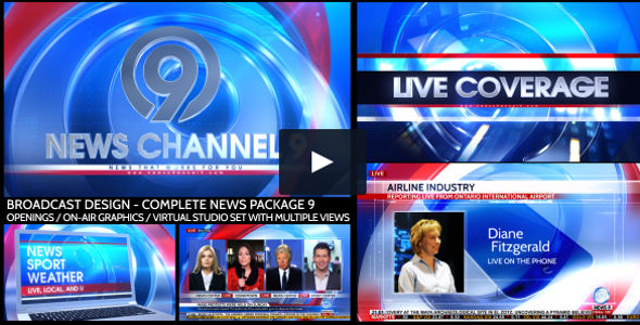 Broadcast Design Complete News Package Video