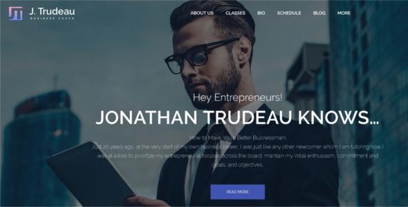 Business Coach WordPress Template