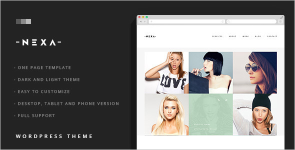 Business Dark WordPress Template