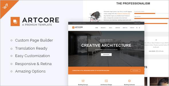 Business Typography WordPress Template