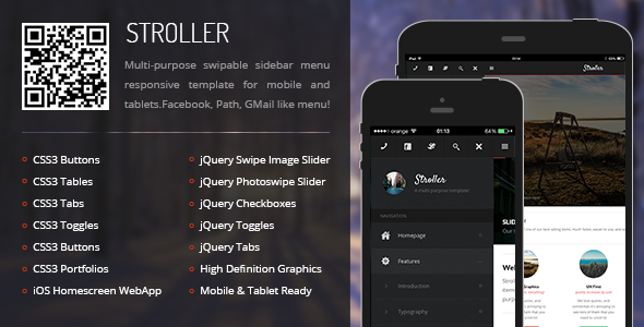 CSS3 Animated Responsive Tablet Template