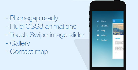 CSS3 Mobile-First Website Template