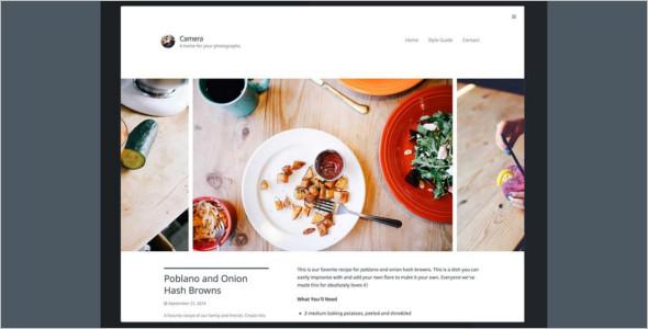 Camara Typography WordPress Template