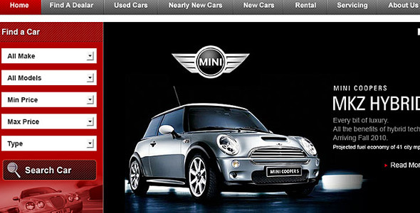 Car Dealership Website WordPress Template