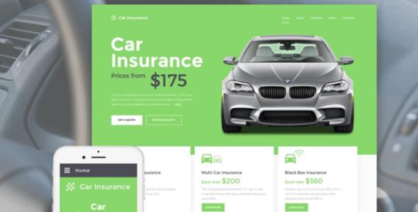 Car Insurance Responsive Website Template