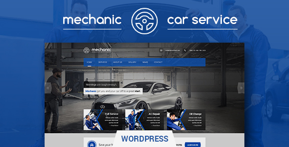 Car Service Workshop WordPress Theme