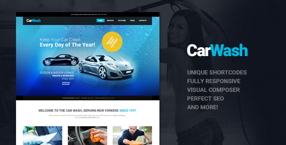 Car Wash Repair Shop Theme