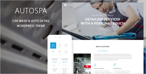 Car Wash WordPress Theme