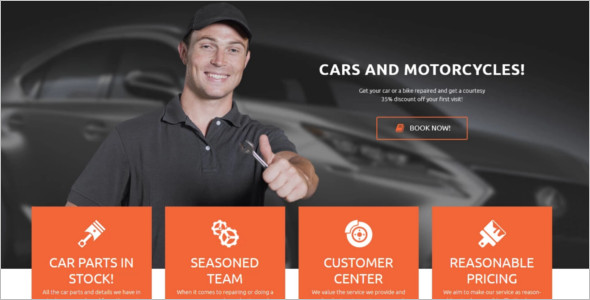 Car parts Motor Cycle WordPress Template