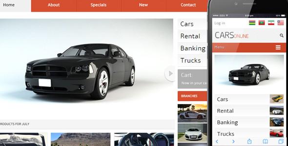 Cars Online automobile Mobile Website Template