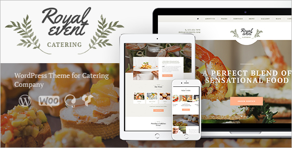 Catering Company WordPress Tempate