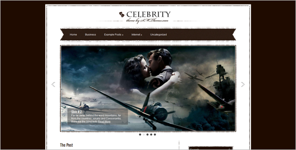 Celebrity Magzine WordPress Template