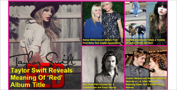 CelebrityGossip Entertainment Template