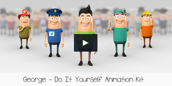 Character Modular Animation DIY Kit Template