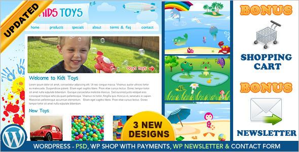 Children Toy Shopping WordPress Template